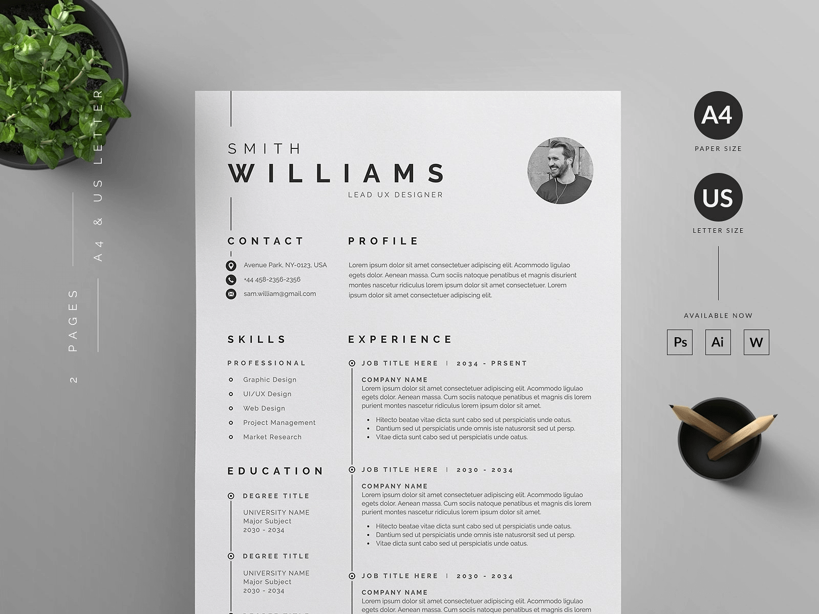 Modern resume template minimalist cv template. 20 Free Word Resume Templates Download Now