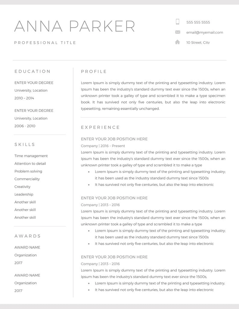 You can then easily create a new document based on that template. 20 Free Word Resume Templates Download Now