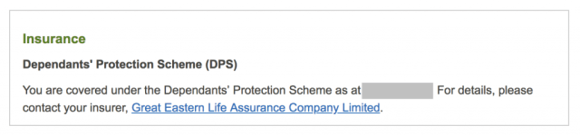 Dependants Protection Scheme DPS) coverage
