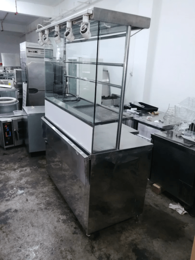 Stainless Steel Chicken Rice Hawker Stall