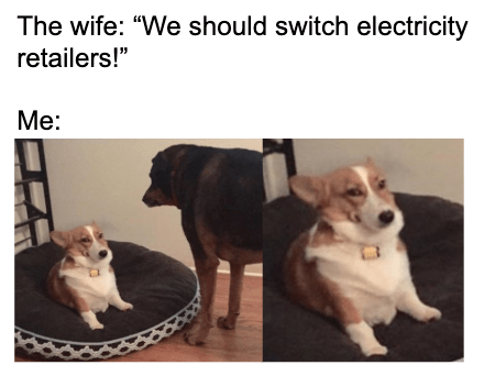 We should switch electricity retailers