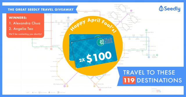 Seedly Great Travel Giveaway Winners Reveal
