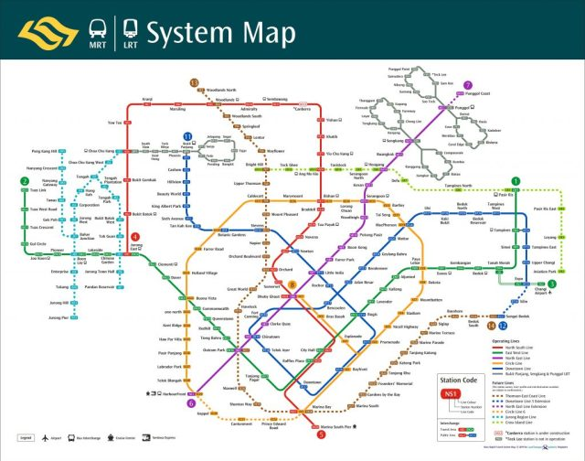 MRT Network System Map