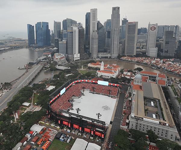 Aerial View Of NDP At Padang