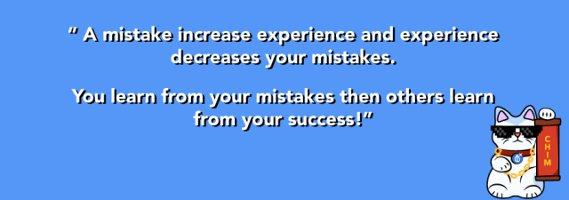 quotes on experience and making mistake
