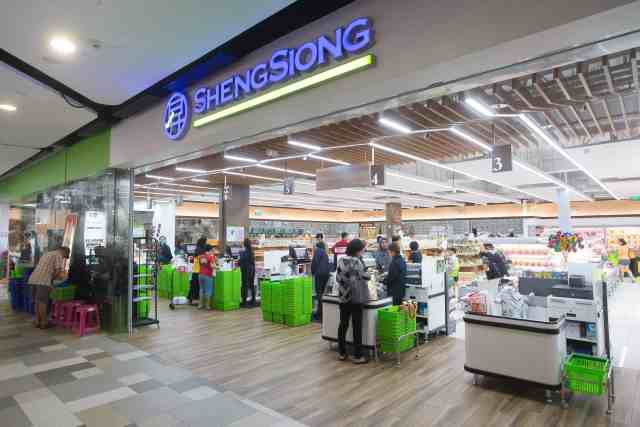 Frontage of Sheng Siong outlet