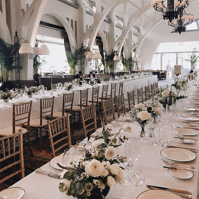Wedding Florals Setup At The Clifford Pier