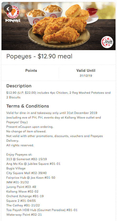 Popeyes ndp promo $12.90 meal