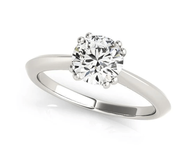 1 ct tw Solitaire Engagement Ring with G Color SI1 Clarity Diamonds GIA Center Stone.