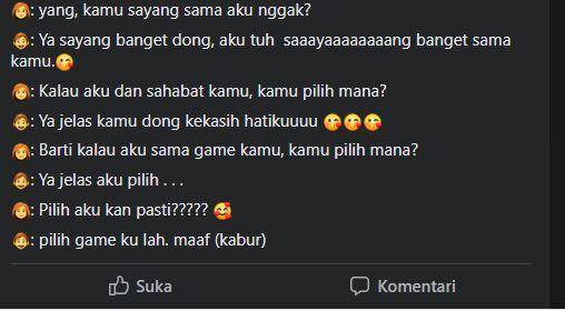 gagal gombal dari gamers Facebook