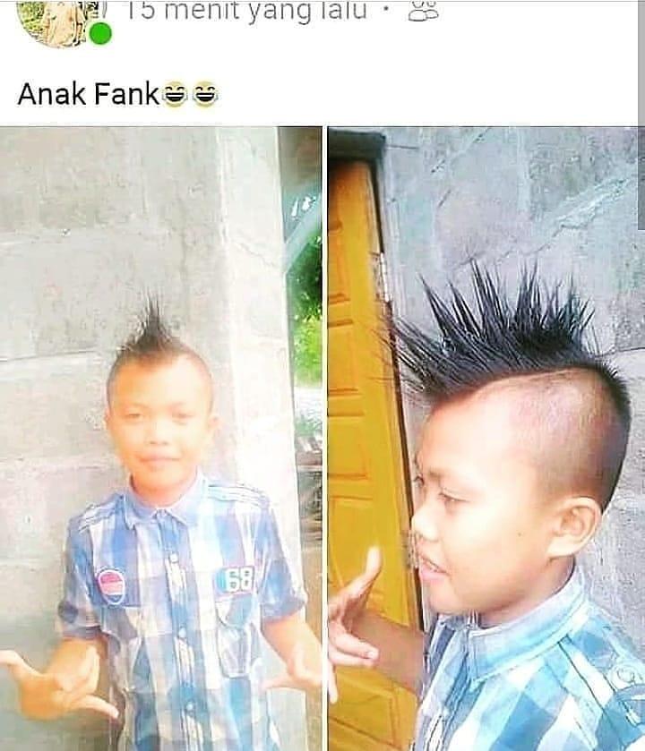 aksi lucu pamer rambut © Instagram