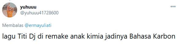 Pelesetan lagu Bahasa Kalbu © 2020 Twitter