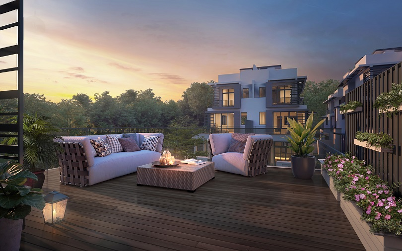 Luxus Hills Signature Collection - Roof Terrace Sunset