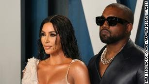 Kim Kardashian and Kanye West discussing divorce
