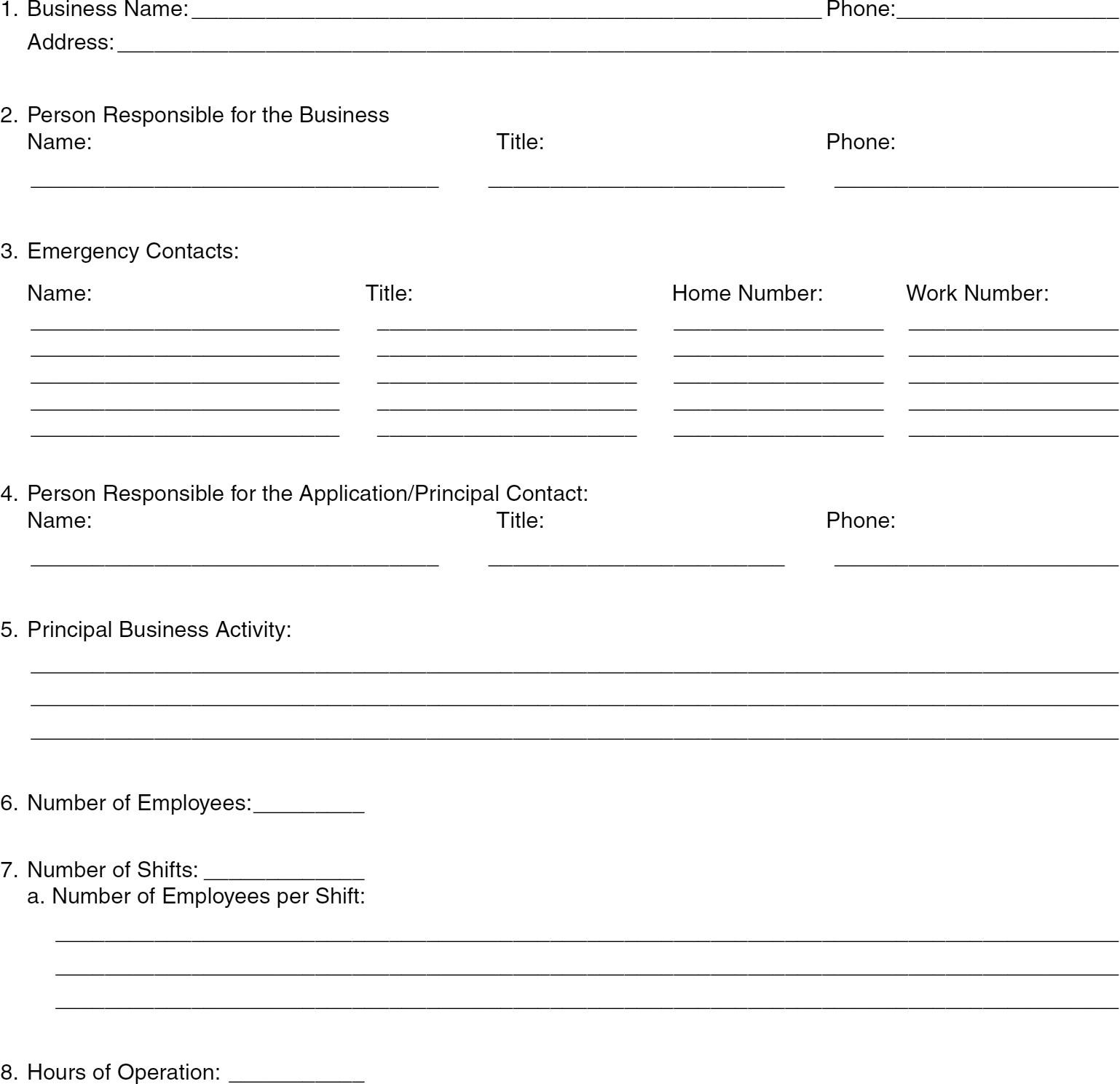 Hazardous Materials Worksheet
