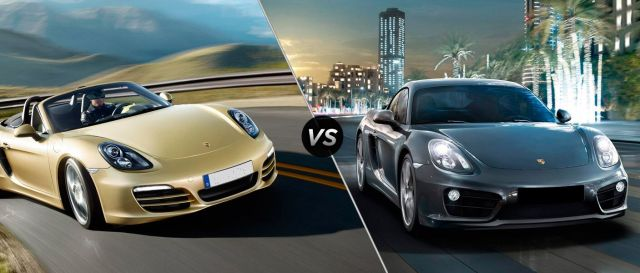 Image result for boxster vs cayman
