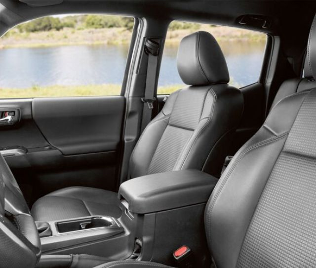 Side View Of The Front Seats In The  Toyota Tacoma