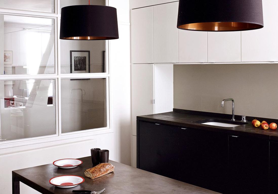 la cuisine noire et blanche plus