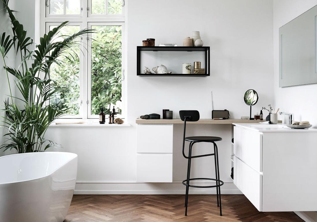 la salle de bains blanche un basique