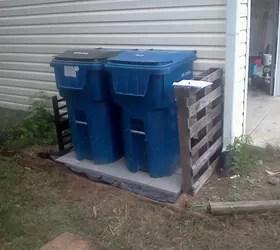 trash can patio hometalk