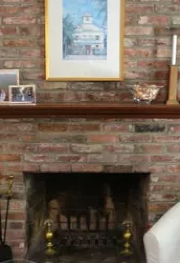 living room ideas painted brick fireplace white hometalk