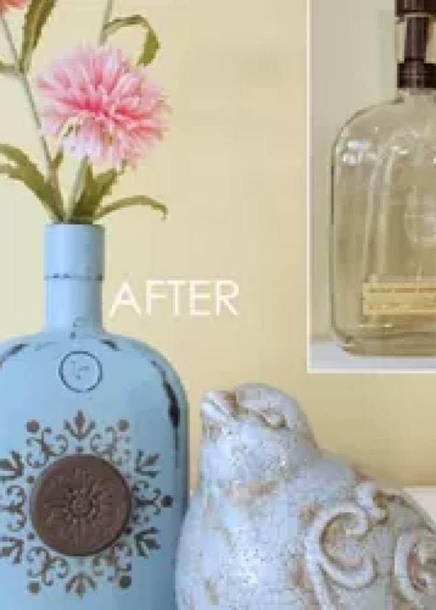 How To Make Chalk Painted Bottles Paint Crafts Diy Home Decor