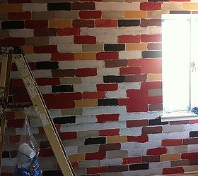 How to Make a Faux Brick Wall Using Paint | Hometalk on Brick Painting Ideas  id=73310