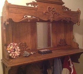 Repurposing An Antique Pump Organ Hutch Into A Coat Rack