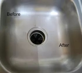 clean and shine my stainless steel sink