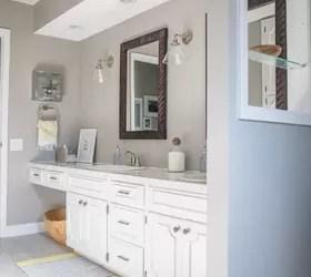 drastic before/after bathroom remodel (all diy!) | hometalk