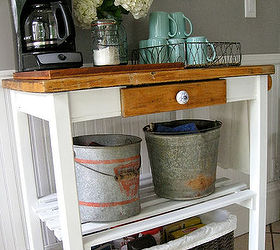 Dirty Paint Shelf To Cute Coffee Cart Hometalk