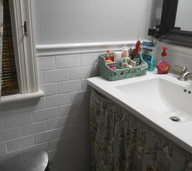 floor tile up to chair rail height