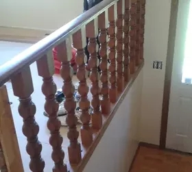 Storage Solutions For A Split Level Entryway Hometalk | Split Level Entry Stairs | Wood | Half Wall | Stairwell | Raised Bungalow | Interior
