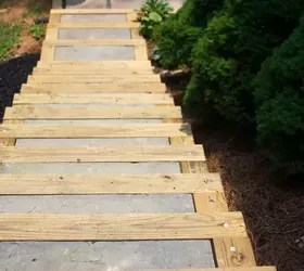 DIY Outdoor Staircase | Hometalk on Backyard Patio Steps  id=42800
