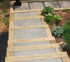 DIY Outdoor Staircase | Hometalk on Backyard Patio Steps id=29550