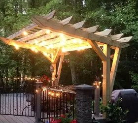 Cantilevered Pergola Diy Designed And Built Hometalk