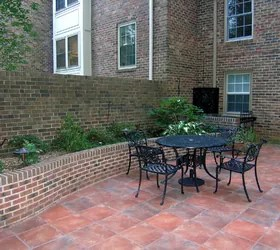 a courtyard with new orleans flair