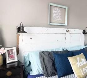 diy vintage door headboard | hometalk