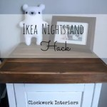 Ikea Hack Customize A Hemnes Nightstand With Reclaimed Wood Hometalk