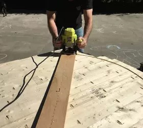 DIY Round Trestle Dining Table