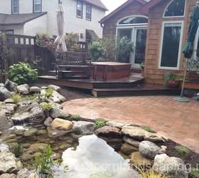 ideas w fish pond paver patio