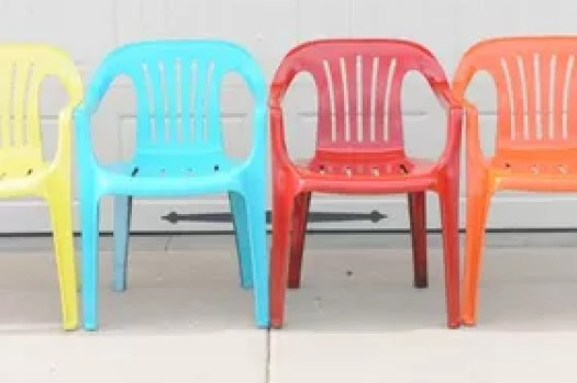 Bring New Life To Your Old Plastic Chairs With Krylon Spray Paint Painted Furniture