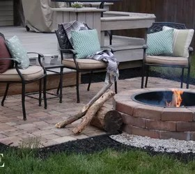 DIY Paver Patio and Fire Pit | Hometalk on Paver Patio Designs With Fire Pit id=23202