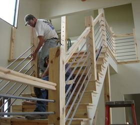 Diy Cable Rail Staircase Hometalk | Diy Interior Cable Railing | Front Step | 42 Inch | Modern | Wire | Low Cost