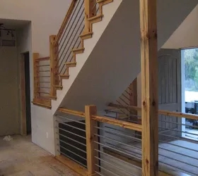 Building A Home Cable Rail Staircase Hometalk | Cable Stair Railing Diy