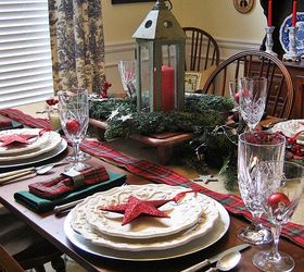 My Starry Burlap And Plaid Christmas Tablescape Hometalk