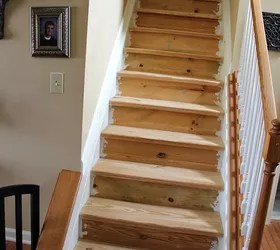 Changing Carpeted Stairs To Wooden Hometalk