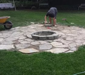Building a Backyard Fire Pit | Hometalk on Backyard Patio Designs With Fire Pit  id=38045