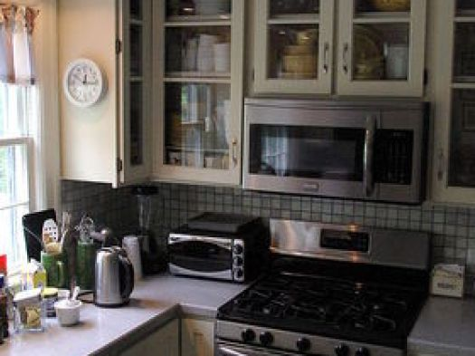 Painted White Kitchen Cabinets For An Elegant Country Appliances Countertops Home Improvement
