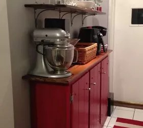 how can i add shelves to my tall kitchen cupboard to use wasted